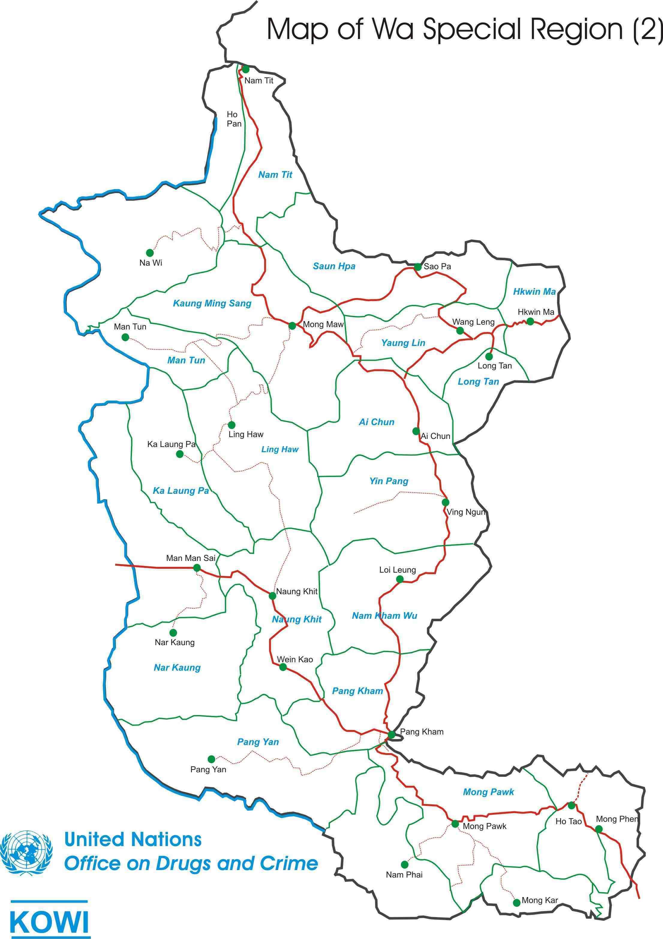 SOAS Wa Dictionary Project Warelated Maps - Map of wa