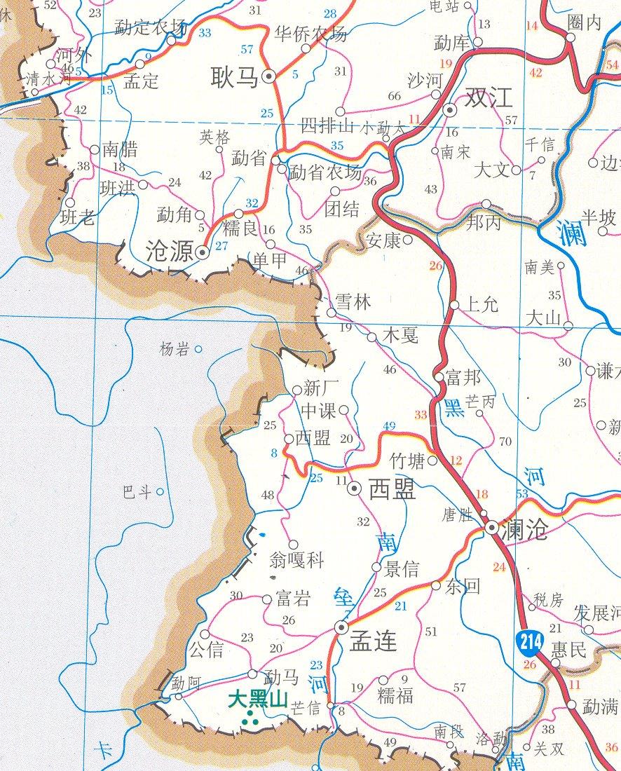 SOAS Wa Dictionary Project Warelated Maps - Chinese a language map